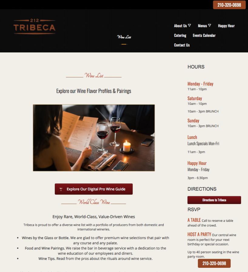 Restaurant Website Update